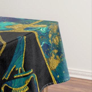 Ägyptisches Gold- und Marmor Voronoi Diagramm Tischdecke