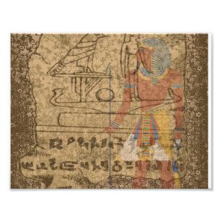 Ägyptisches hieroglyphisches fotodruck