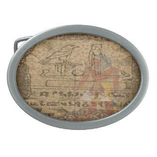 Ägyptisches hieroglyphisches ovale gürtelschnallen