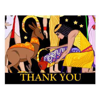 Ägyptisches Motiv danken Ihnen zu kardieren Postkarte