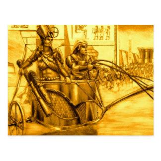 Ägyptisches Pharao in seinem Chariot Postkarte