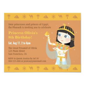 Ägyptisches Themed Kindergeburtstag-Party 10,8 X 14 Cm Einladungskarte