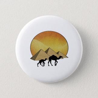 Ägyptisches Überschreiten Runder Button 5,7 Cm