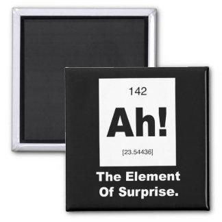 Ah! Das Element der Überraschung Quadratischer Magnet