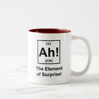 Ah! Das Element der Überraschung Zweifarbige Tasse