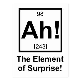 Ah das Element Überraschungs-des periodischen Postkarte