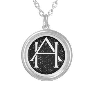 AH Monogramm für die Initialen die Buchstaben AH Personalisierte Halskette