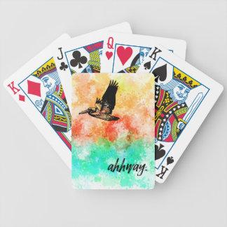 Ahhway.™ Pelikan Bicycle Spielkarten