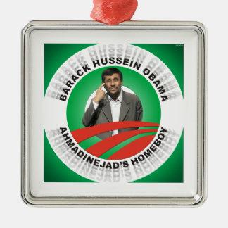 Ahmadinejads Homeboy Silbernes Ornament
