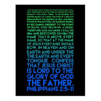 Ahmen Sie Christus Bescheidenheitphilippians-2:5 - Postkarte