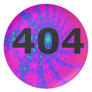 Ahnungsloser psychedelischer Esprit 404 Party Teller