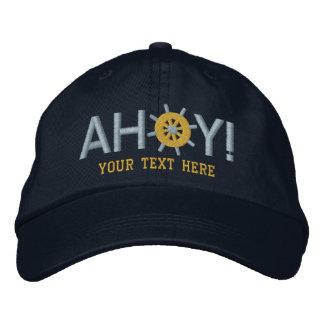Ahoi Captains Schiffs-Rad personalisiertes Bestickte Kappe