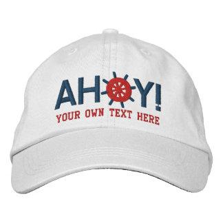 Ahoi Captains Schiffs-Rad personalisiertes Bestickte Baseballmützen