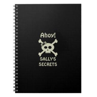 Ahoi! Niedlicher Piraten-geheimes gewundenes Spiral Notizblock