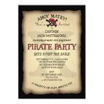 Ahoi Schatz-Karten-Piraten-Geburtstags-Party Personalisierte Einladungskarte