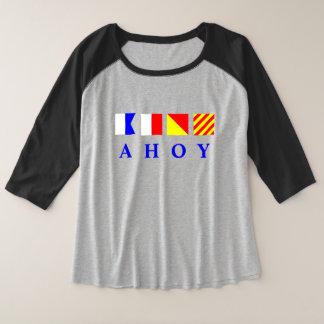 Ahoi Seeflaggen Große Größe Raglan T-Shirt
