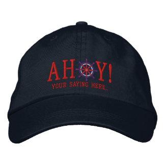 AHOI! Seegruß-Stickerei Bestickte Kappe