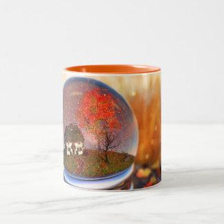 Ahorn-Blatt-Kugel-Tasse Zweifarbige Tasse