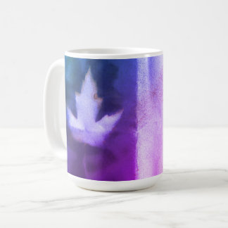 Ahorn-Blatt-natürliche Tinten-handgemachte lila Kaffeetasse