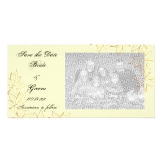Ahorn-Blatt-Rand, der Save the Date Foto-Karte Photo Karten Vorlage