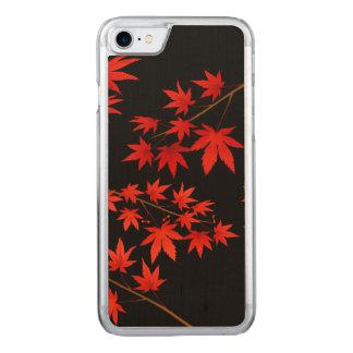 Ahorn-Blätter Carved iPhone 8/7 Hülle