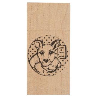 Ahorn-hölzerner Känguru USB Holz USB Stick 2.0