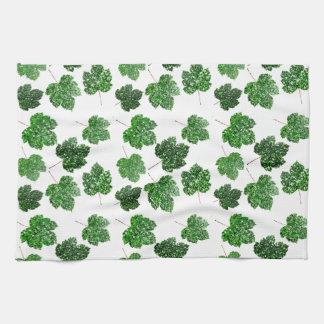 Ahorn tropisches Cali grünes Blatt-Natur-Weiß-Holz Handtuch