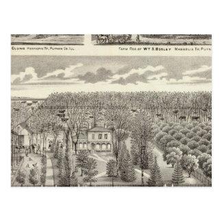 Ahorn-Waldungswohnsitz Postkarte