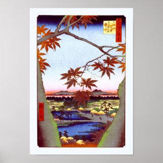 Ahornbäume Tekona Hiroshige Japaner-schöne Kunst Poster