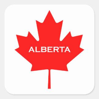Ahornblatt Albertas Kanada Quadratischer Aufkleber
