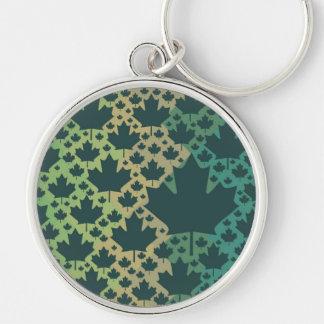 Ahornblatt-Entwurf ♥ Grün Kanada, Schablone Schlüsselband