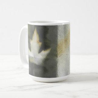 Ahornblatt-Entwurfs-natürliche Tinten-handgemachte Kaffeetasse