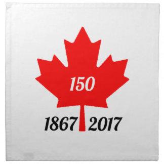 Ahornblatt Kanadas 150 im Jahre 2017 Stoffserviette