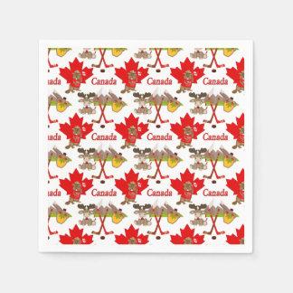 Ahornblatt-Kanadier Papierservietten