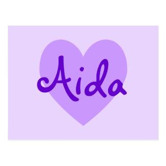 Aida in Lila Postkarte