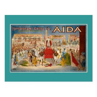Aida Opern-Vintage Leistung 1908 Postkarte