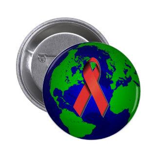 AIDS Bewusstsein für alle Button