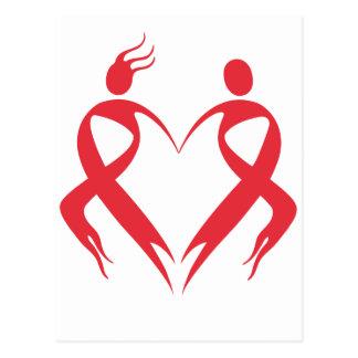 AIDS Emblem Postkarte