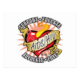 AIDS/HIV Klassiker-Herz Postkarte