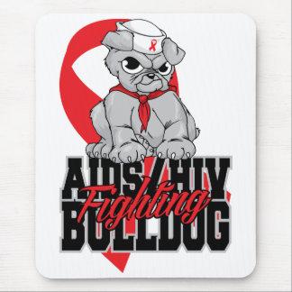 AIDS kämpfender Bulldoggen-Welpe Mousepad