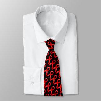AIDS u. HIV | Herz-Krankheit u. Anschlag - rotes Bedruckte Krawatten