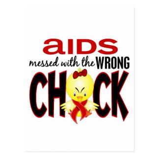 AIDS verwirrt mit dem falschen Küken Postkarte