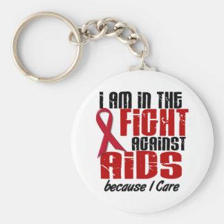 AIDSHIV in der Sorgfalt des Kampf-1 I Standard Runder Schlüsselanhänger