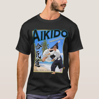 Aikido-karibisches Art-Dunkelheits-Kleid T-Shirt
