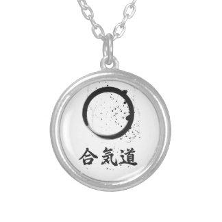 Aikido-Zen-Tinte Halskette Mit Rundem Anhänger