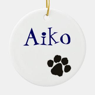 Aiko - Hundeanhänger Rundes Keramik Ornament