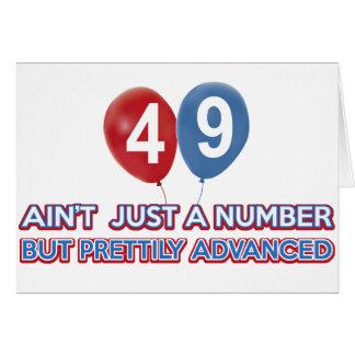 aint 49 gerade eine Zahl Karte