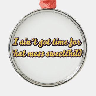 aint erhielt Zeit für Ihre Verwirrung Silbernes Ornament