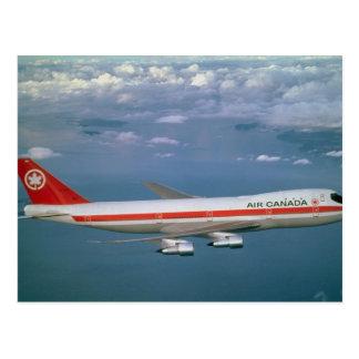 Air Canada 747, im Flug Postkarte