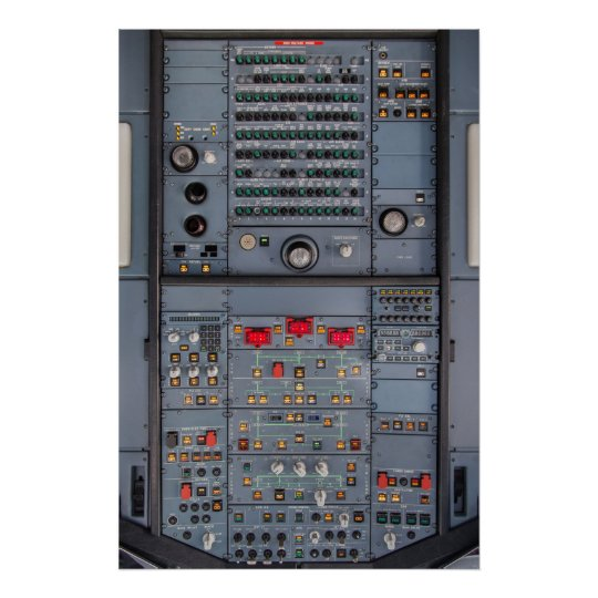Airbus A321 Overhead Panel Poster